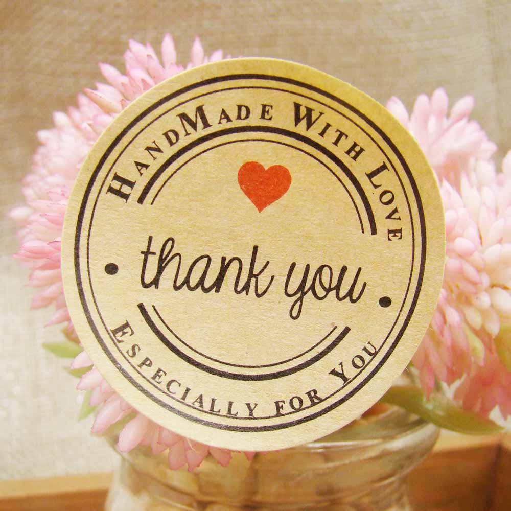 144 шт./лот, спасибо, самоклеющиеся наклейки, крафт-этикетка, наклейка, диам, 3,5 см для DIY, ручная работа, подарок/Торт/конфеты, бумажные бирки