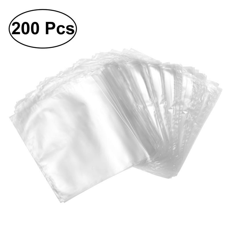 200 pièces 6X6 pouces étanche POF thermorétractable bouteille alimentaire couverture sac cadeau pour savons bain bombes et bricolage artisanat Transparent