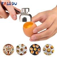 1 Pcs Metal Egg Scissors 304 Stainless Steel Topper Shell Cutter Opener Boiled Raw Egg Open Creative Kitchen Tool