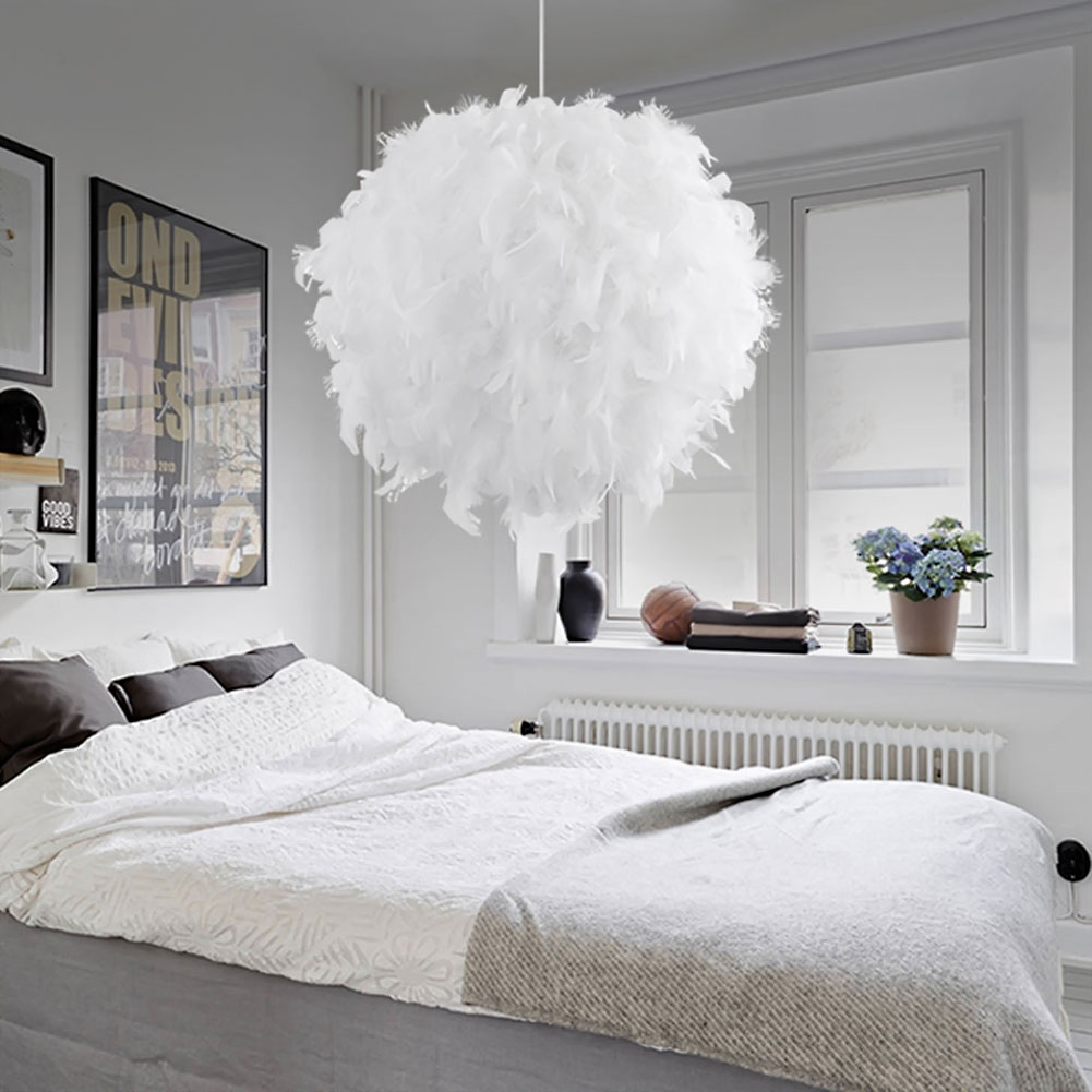 modern luxury feather pingente luminaria lamparas droplight lustre romantico pendurado