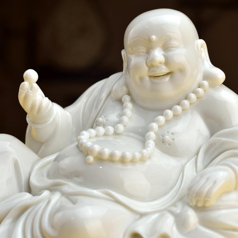 Dai Yutang Dehua en céramique riant bouddha Maitreya bouddha statue décoration idée décoration artisanat/loisirs