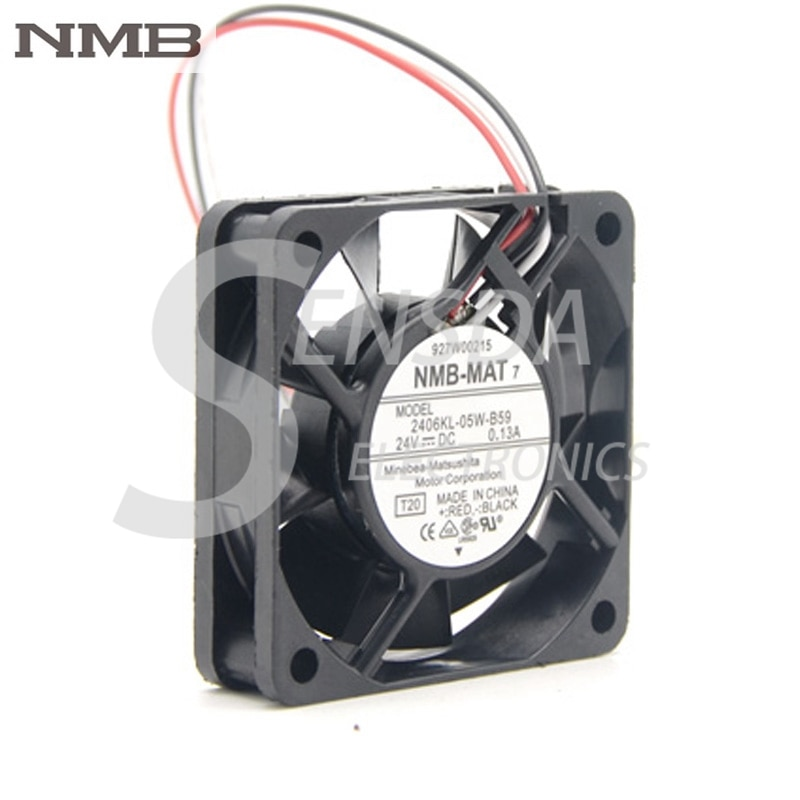 مروحة تبريد, أصلي لـ NMB 2406KL-05W-B59 dc 24V 0.13A 6 سنتيمتر 6015 60*60*15 MM 3 أسلاك محول مروحة تبريد