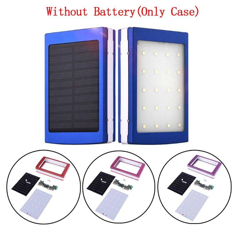 Portable 5x18650 Powerbank  Pover Power Bank 18650 Solar Power Bank Case DIY Box Dual USB Kit Phone Charger Flashlight