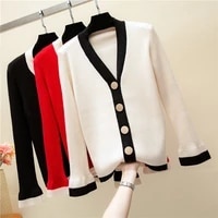 patchwork knitted cardigan women 2019 autumn winter clothes women jumper pull femme female casual streetwear sweater cardigan