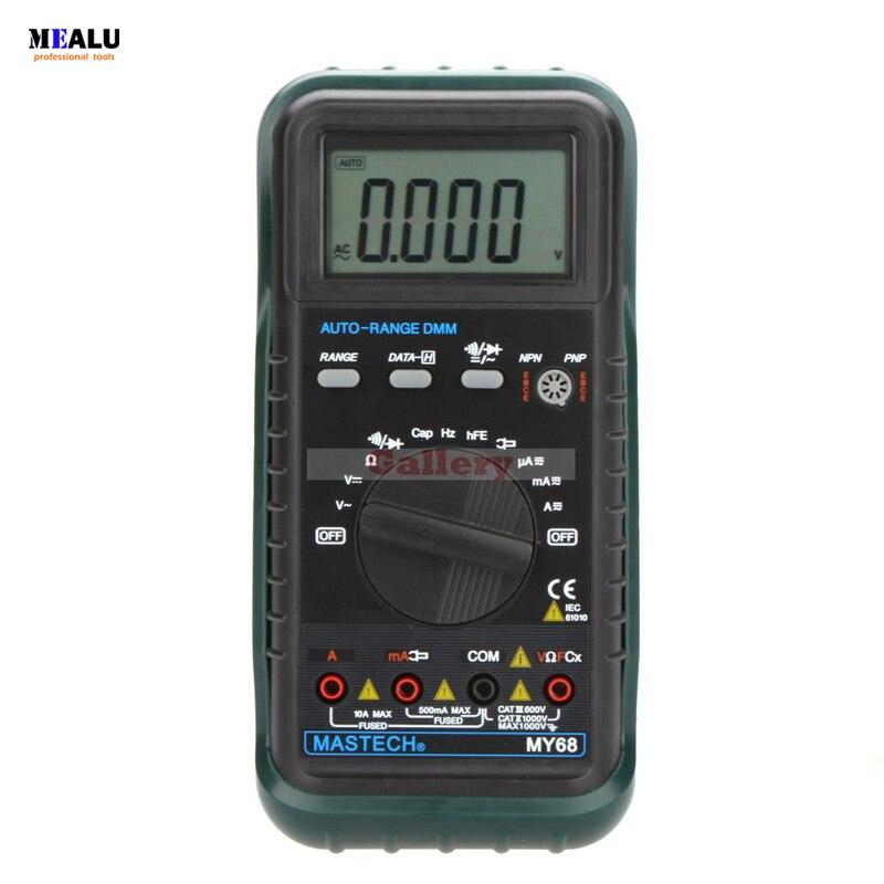 Ручной цифровой мультиметр My68 с автоматическим диапазоном, Dmm W, измеритель емкости частоты и Hfe, тестеры, цифровой мультиметр