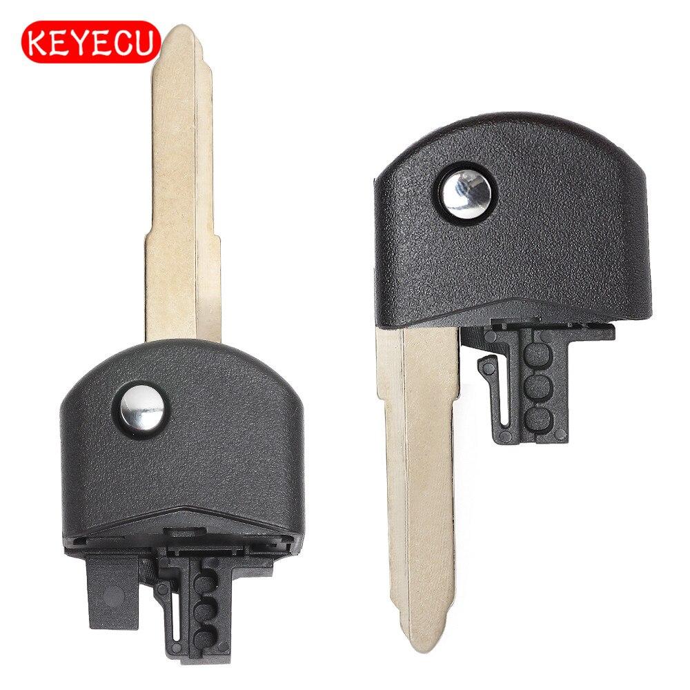 Keyecu Replacement Flip Folding Remote Key Head Part for MAZDA 3 5 6 Flip Remote Key Blank Keyless Case Blade