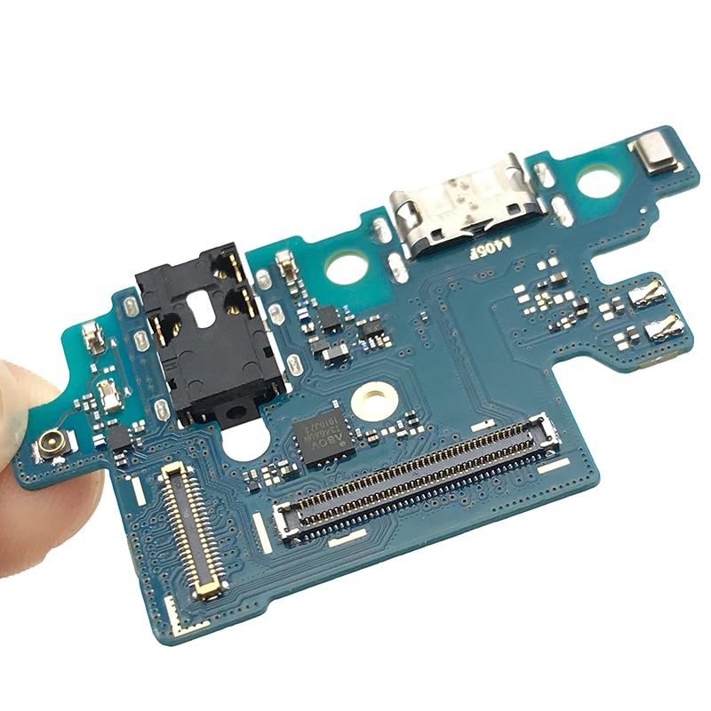 Conector de puerto de carga de alimentación USB Cable flexible para Samsung A40 A405F placa de carga con auriculares de Jack automático