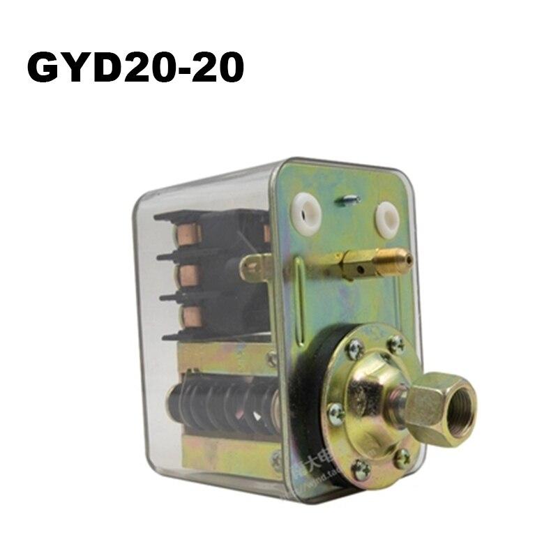 380V 20A GYD20 serie pesado Interruptor de Presión Del Compresor de Aire de la válvula de Control de GYD20-20A/20B/20C 0.3Mpa