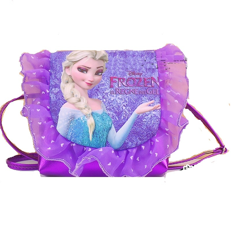 Moda para chicas, bolsa de mensajero de princesa para niños, monedero de encaje para niñas, bolso de PU con dibujos animados, bolsas para estudiantes, regalo de Mochila adorable