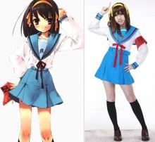 Suzumiya Haruhi nie Yuuutsu anime cosplay Suzumiya Haruhi zimowy mundurek szkolny cosplay kostiumy na halloween