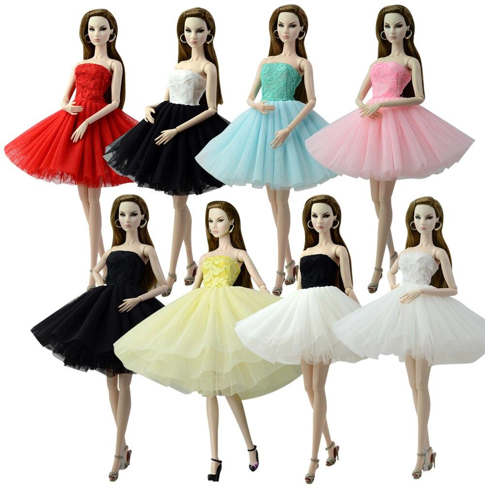 NK un Set de ropa para muñeca de moda vestido de falda vestido de fiesta para muñeca Barbie mejor regalo G036 JJ