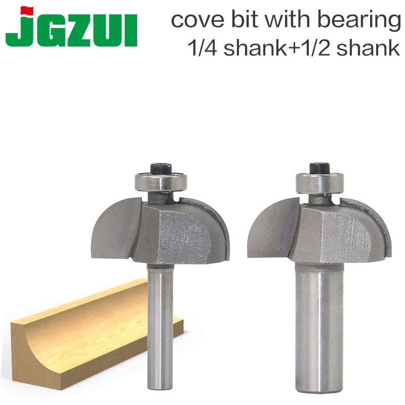 1 ud. 1/2 vástago 1/4, ranurado redondo, enrutador CNC de punta redonda, brocas para madera de grado Industrial, fresa para carpintería