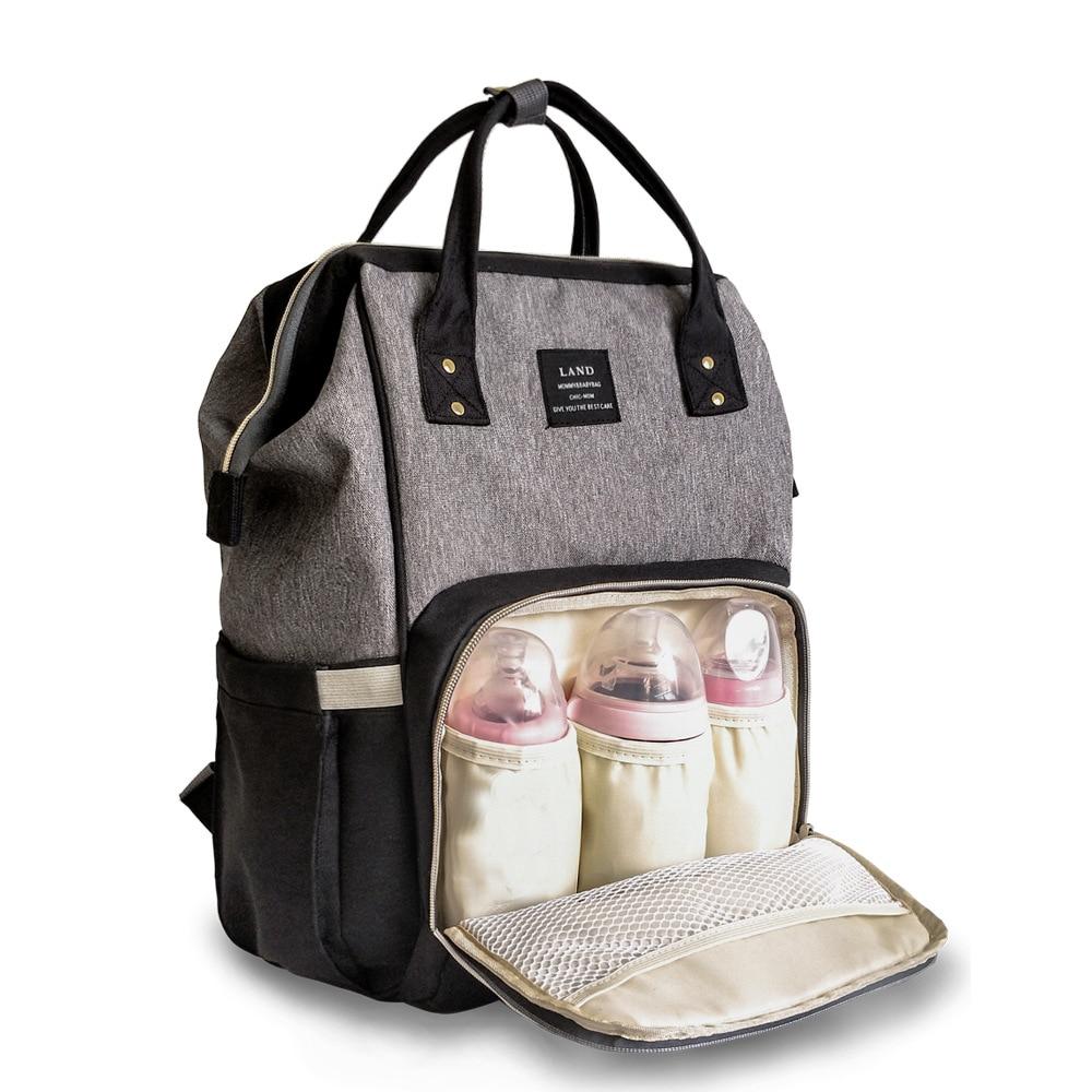 Mochila de viaje para mamá, bolsa de pañales para bebé, bolsa de pañales para maternidad