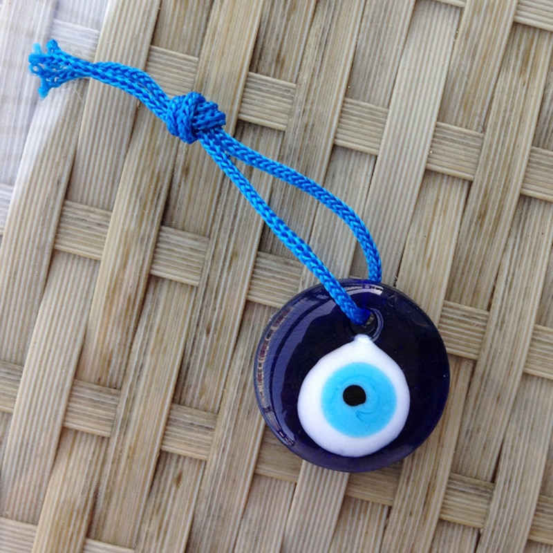 Recém Vidro Lampwork Turquia Turkish Evil Eye Charme Pingente Amuleto Carro Para Casa Ornamento