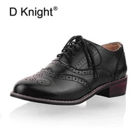 new 2021 vintage carved women brogue oxfords fashion round toe lace up oxford shoes for women size 34 43 ladies flat oxfords
