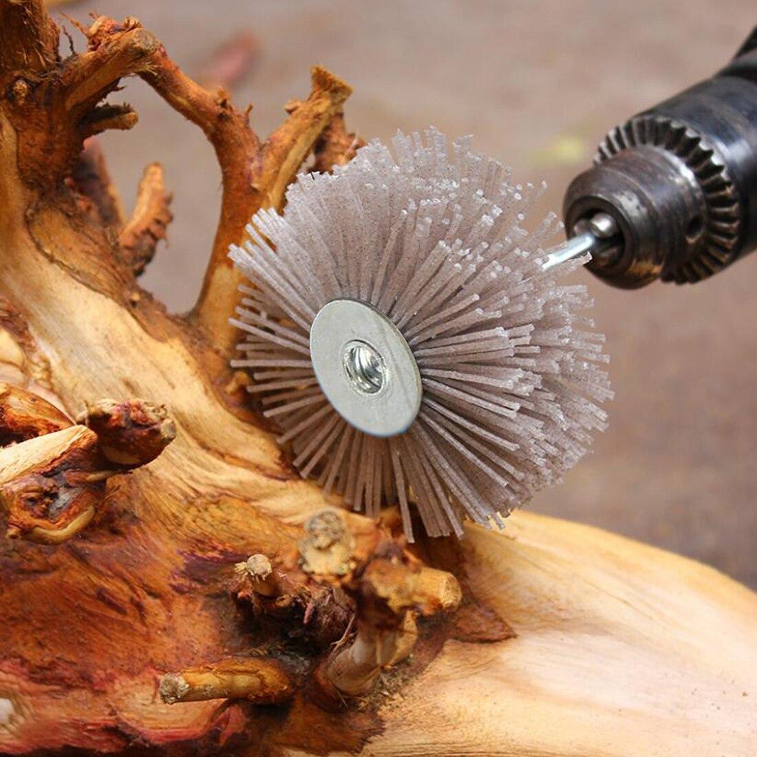 Абразивная проволочная Шлифовальная головка для цветов абразивная нейлоновая шлифовальная щетка для дерева шлифовальная машина для деревянной мебели из красного дерева