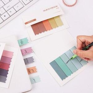 DIY мини милые короткие градиентные цветные блокноты липкая закладка для заметок бумаги канцелярские Papelaria
