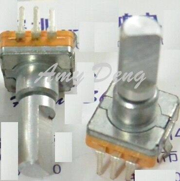 50 pçs/lote tipo EC11 encoder com interruptor de Alta qualidade ou de alta potência sem posioning número 15 pulso comprimento do eixo 20mm