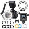Neewer 48 RF550D Макро LED Кольцевая Вспышка LCD дисплей с 4 диффузором 8 Переходных кольцов для Nikon Canon Panasonic Pentax