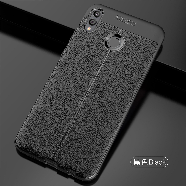 Wolfsay TPU caso suave Huawei Honor 8X Max caso textura de cuero funda del teléfono del silicona para Huawei Honor 8X Max Coque Huawei Y Max