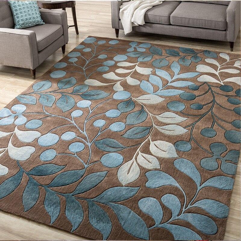 Alfombra de arte floral abstracto de alta calidad para sala de estar dormitorio alfombra antideslizante alfombra de cocina de moda alfombras