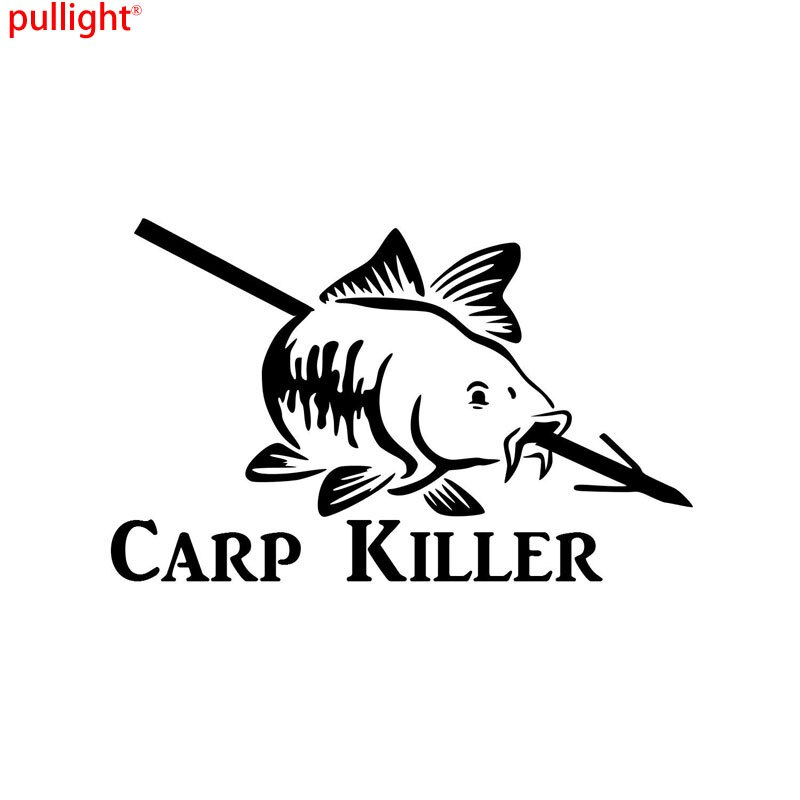 17,5 CM * 11CM arco etiqueta adhesiva con pez arco pescado punto láser carrete tirachinas pegatinas de coche y decoración de estilo