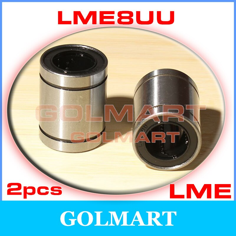 2pcs Linear Bearings New Precision LME8UU 8*16*25mm Linear Motion Bush Bushing Linearlager Kugelbuchse for 8mm rail shaft