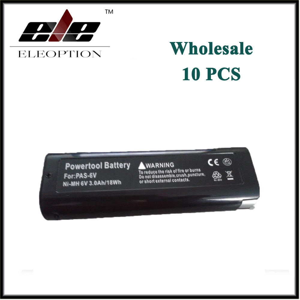 Оптовая продажа 10 шт ELEOPTION батарея для Paslode 6V 3000mAh Ni-MH B20544E, 404717 BCPAS-404717SH, IM65A, F16, 900420