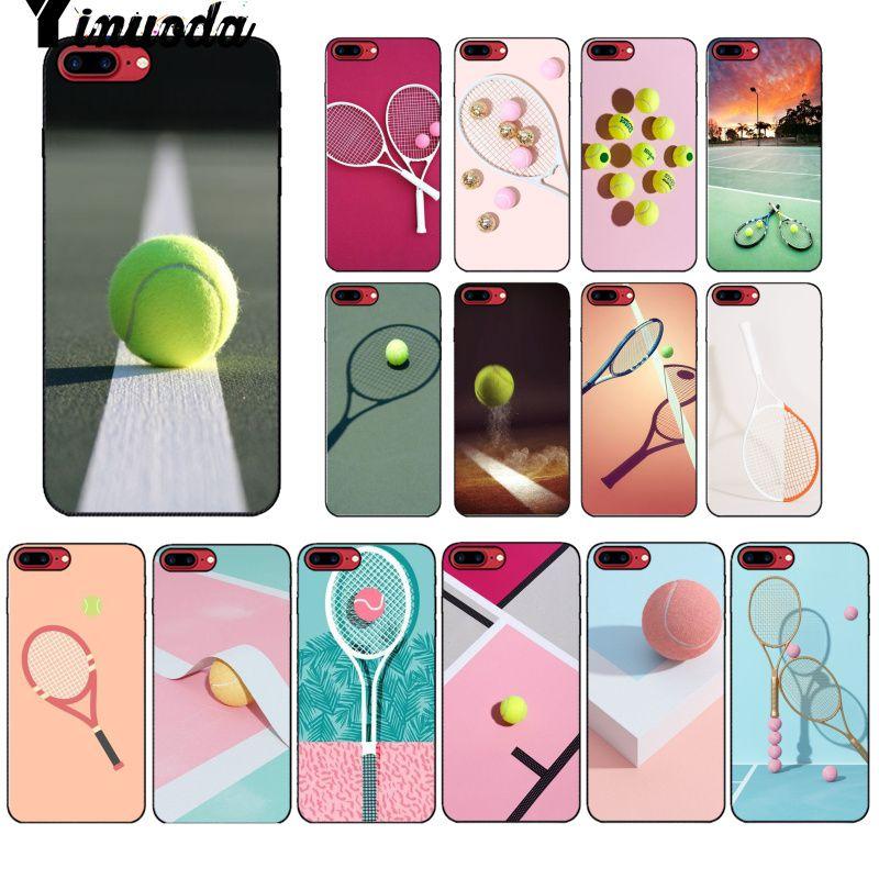 Yinuoda Теннисная ракетка Чехол для телефона Apple iPhone 8 7 6 6S Plus X XS MAX 5 5S SE XR мобильные телефоны