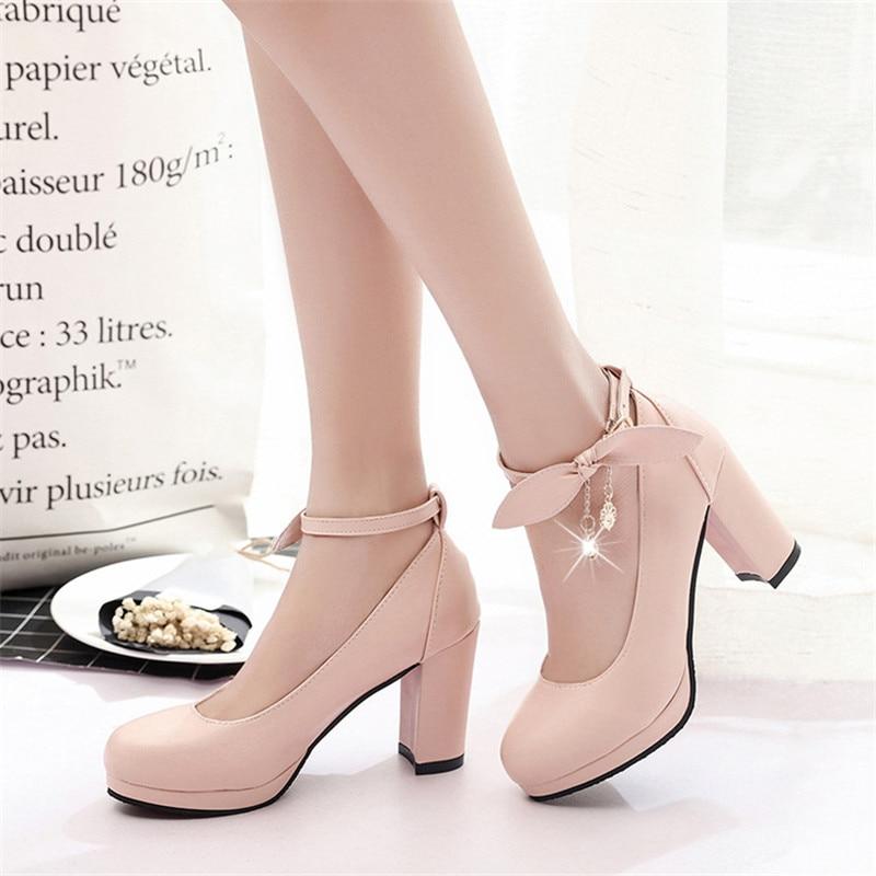 Zapatos de tacón alto de charol clásico con lazo para mujer, zapatos de tacón alto para fiesta y boda, zapatos de tacón alto para mujer, novedad de 2019