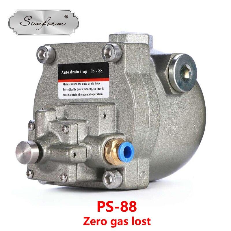 "Válvula de drenaje automática para filtro secador de tanque, nivel de agua sin pérdida de gas visible 1/2 "", PS-88 simforme"