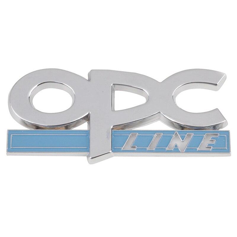 3D LINHA Do Emblema do Emblema Do Decalque Car styling OPC para Opel Astra Corsa Mokka para Buick Regal Lacrosse Excelle Chrome Metal etiqueta do carro