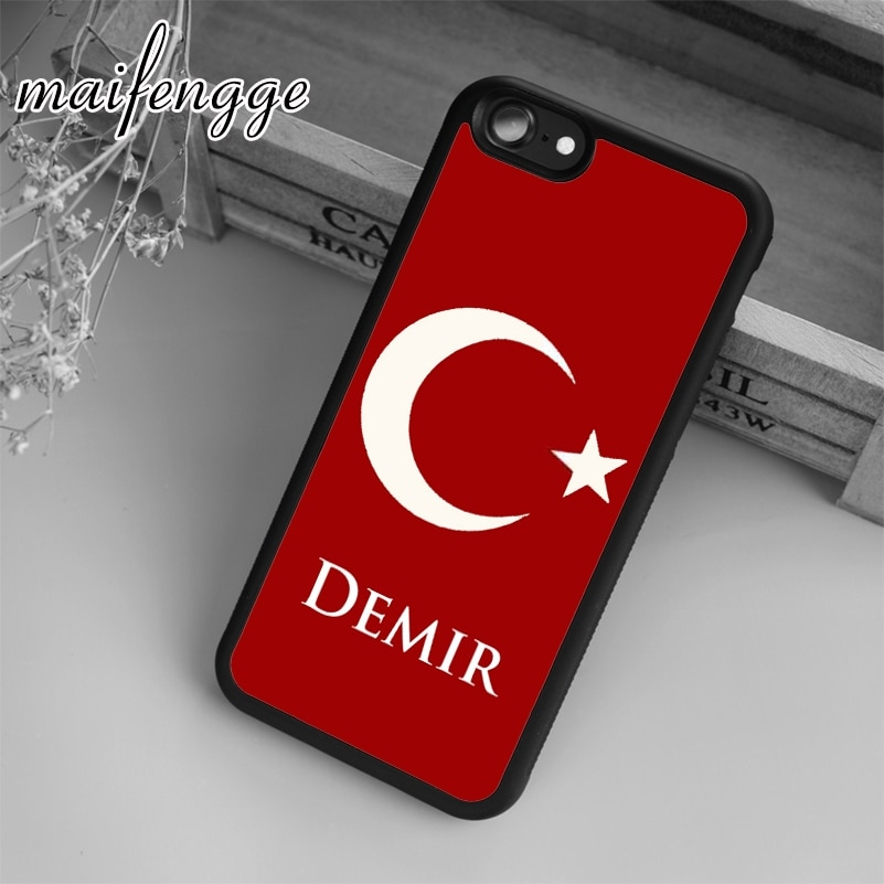 Maifengge Turquía bandera caso para el iPhone 5 se 6 6s 7 7 8 plus X XR XS max 11 Pro samsung Galaxy S7 Edge S8 S9 S10