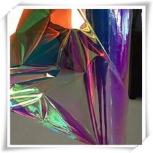 Film dichroïque Angelina cristalina   26mic, Film fantaisie PET irisé arc-en-ciel, 1020mm W * 150m L