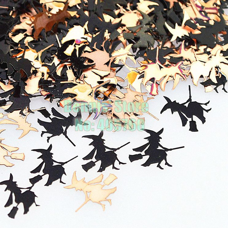 Venta al por mayor 800 unids/pack clásica papel Magican negro Brone lentejuelas metálicas de uñas arte etiqueta engomada decoración del teléfono de la célula puntas DIY