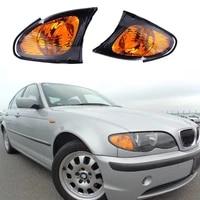 right left corner lights for 2002 2005 e46 3 series 4d sedan turn signal lamps yellow lens