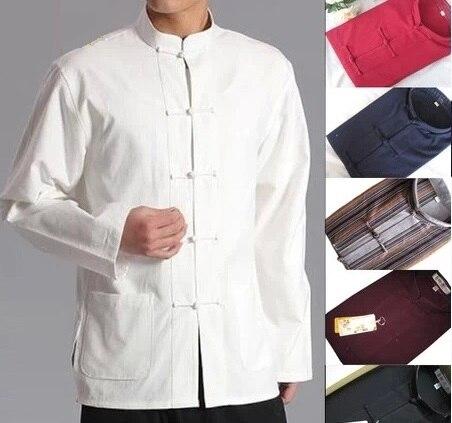 Мужской Китайский традиционный костюм Тан, куртка Wu Shu Tai Chi, одежда shaolin, рубашка с крыльями кунг-фу, костюм для тренировок с длинными рукавами