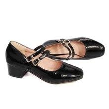 Zapato femenino, Zapatos reales para Mujer, talla grande 34-48, Nuevo 2017, Zapatos de tacón alto con plataforma, Zapatos de Mujer de primavera otoño 6-3