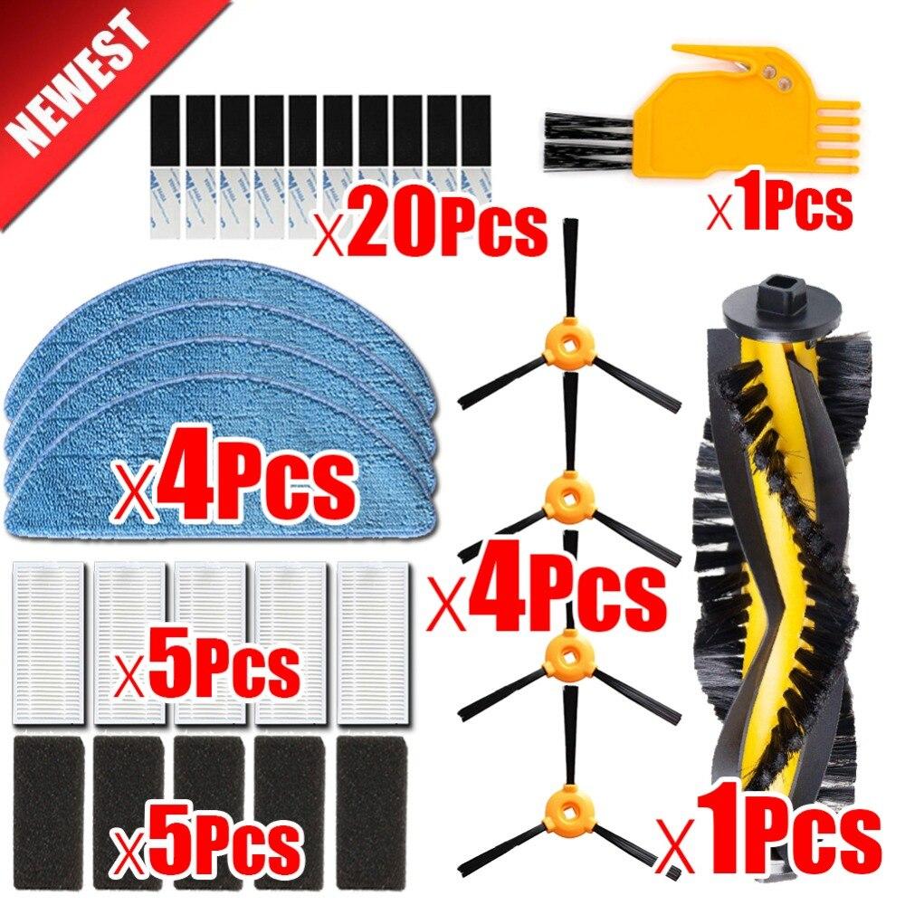 Alta calidad Cepillo Lateral filtro HEPA filtro de esponja paño de mopa mágica pasta para CONGA excelencia limpiador robótico piezas de robot aspirador