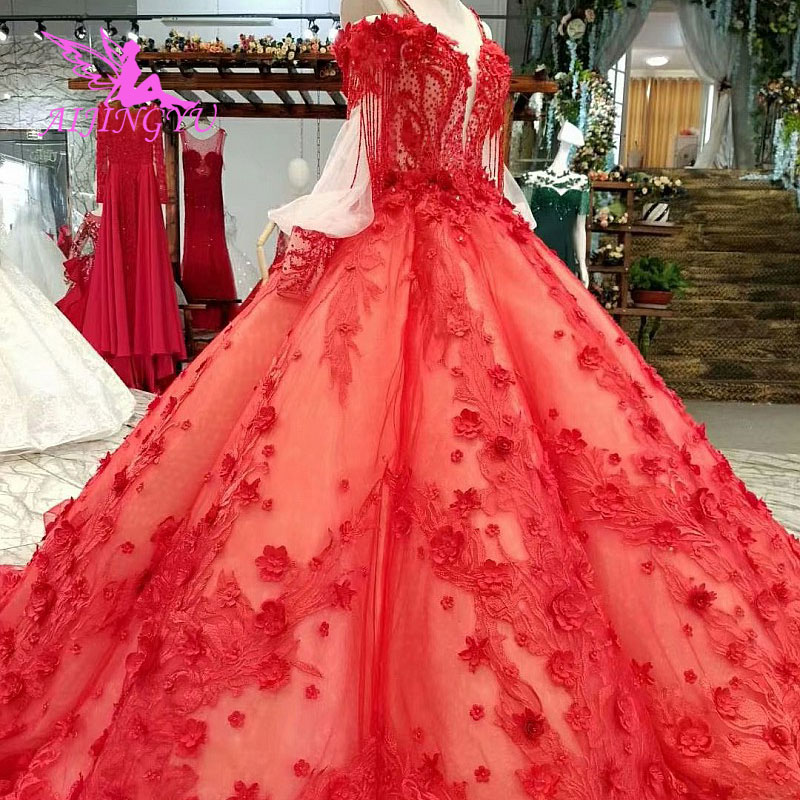 AIJINGYU Neue Hochzeit Kleider Kleid Winter Günstige Weiß Sammlung Einfache Spitze Kleider Hochzeit Kleid Sexy