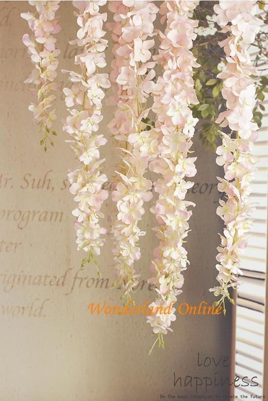 100 قطعة الكوبية الاصطناعية زهرة الوستارية DIY بها بنفسك محاكاة الزفاف قوس مربع الروطان جدار سلة معلقة يمكن تمديد