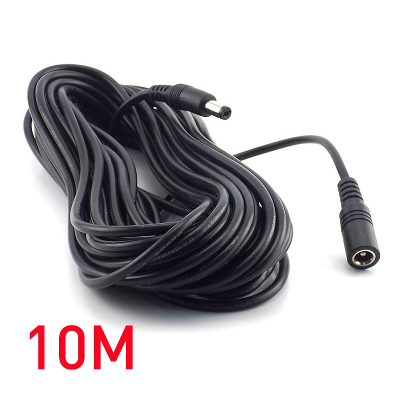 10m 5m 3M 2m 1m 5.5 x 2.1mm DC Power connector Jack Adapter lead cord 12v cable DC female Male exten