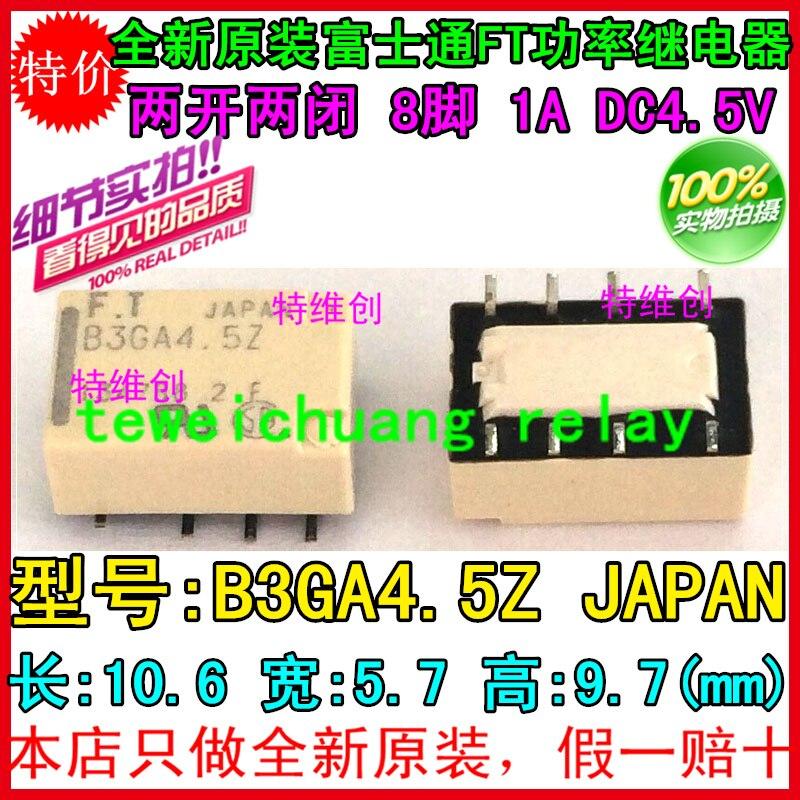 Envío Gratis 100% nuevo original relé 10 unids/lote FTR-B3GA4.5Z 8PIN 1A 4,5 V