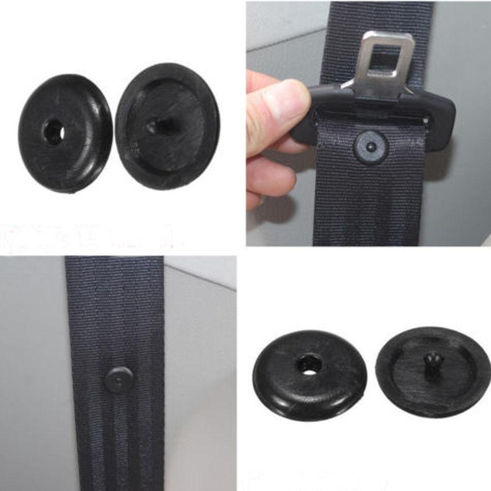 SEKINNEW 10 шт. автозапчасти черные пластиковые автомобильный ремень безопасности стопор ограничение зажима фиксатор ремня безопасности стоп к...