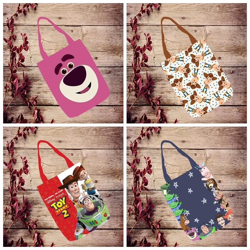 IVYYE 1PCS Toy Story Woody Fashion Anime Canvas Shoulder Bags Casual Shopping Bag Cartoon Tote Handbag Travel Lady Girls New