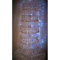wedding 5 layer crystal cake stand wedding centerpiece banquet cake display wedding supply party props