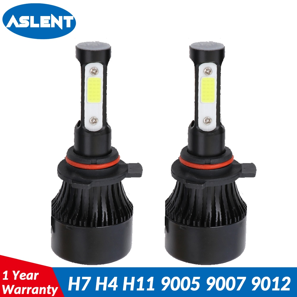 ASLENT H4 led h7 headlights led bulb car light hb4 h11 led lamp for auto 12V 9006 9005 hb3 h9 h8 h13 HB5 9004 9007 100W 12000lm