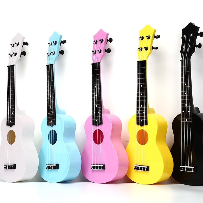 "5 farben 21 ""Ukulele 4 Saiten Guitarra Acoustic Bass Guitar Musical Saiten Instrument für Anfänger Kinder Kinder Geschenke"