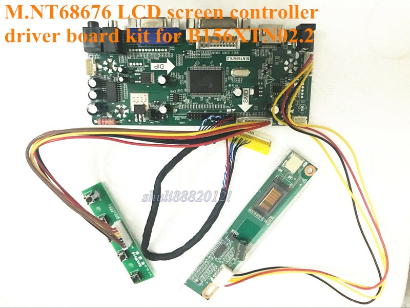New (HDMI+DVI+VGA)M.NT68676 controller driver board kit For B156XTN02.2 15.6 inch 40 pin LVDS WLED 1366*768 60Hz