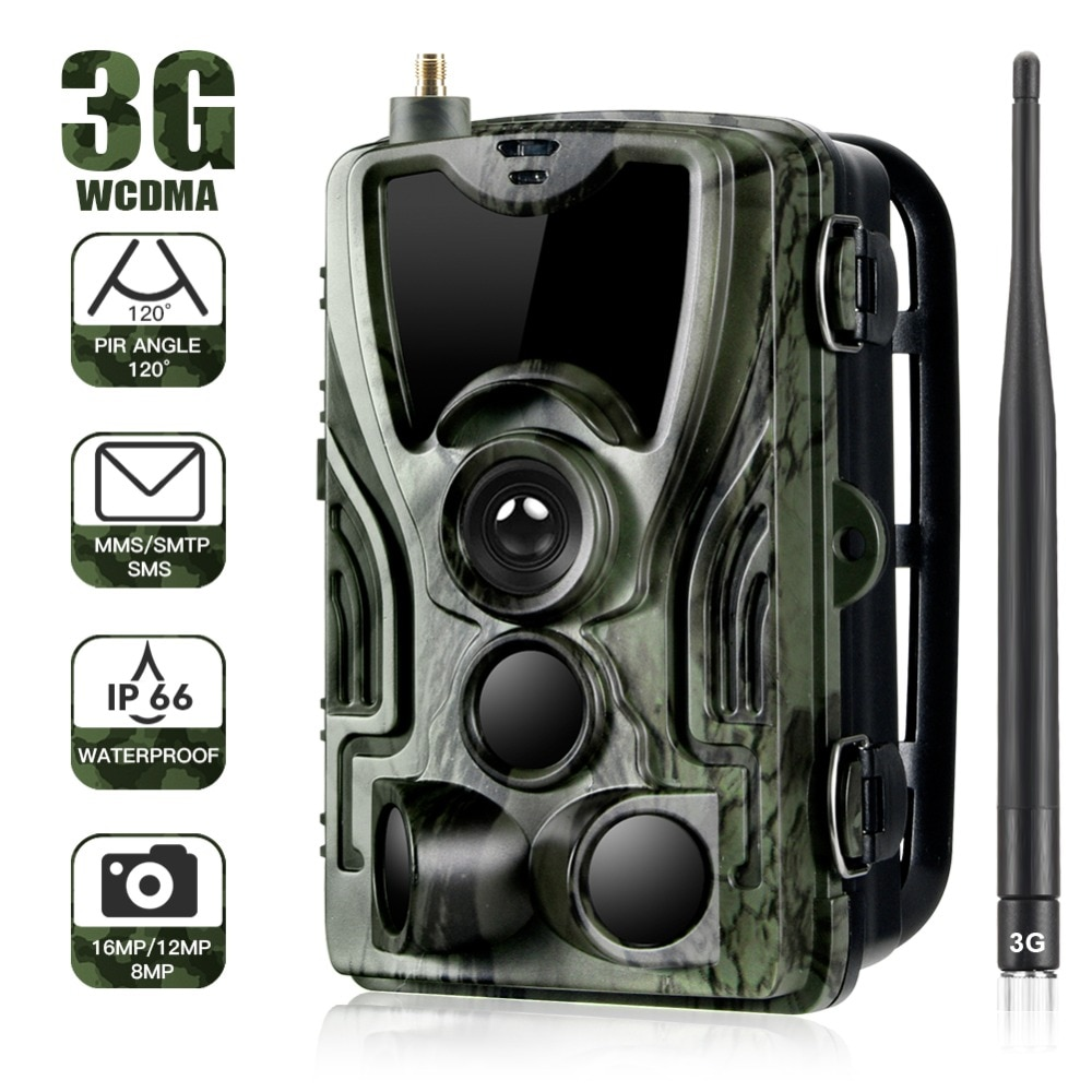 Suntekcam HC-801G 3G Hunting Trail Camera 16MP SMS/MMS/SMTP Photo Traps Time 940nm LEDs Wild Night Vision hunt Chasse scout недорого